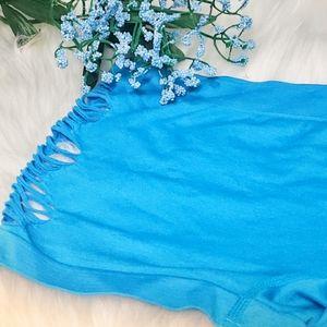 "Kali & Wins Intimates & Sleepwear - Blue ""FOXY"" boy short panties"